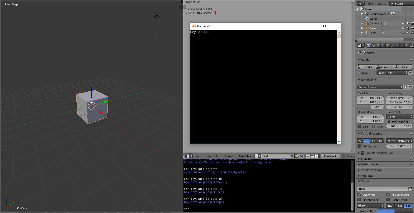 02 – Visualizing a Rubik's solver in 3D using the Blender